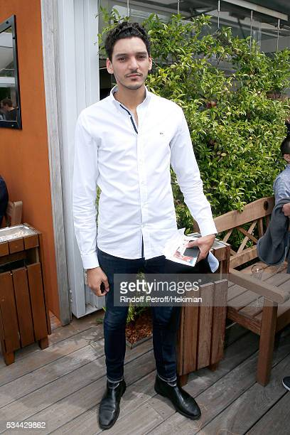 Actor Amir El Kacem attends the 2016 French Tennis Open Day Five at Roland Garros