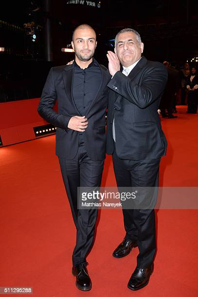 Actor Amir Jadidi and director Mani Haghighi attend the 'A Dragon Arrives' premiere during the 66th Berlinale International Film Festival Berlin at...
