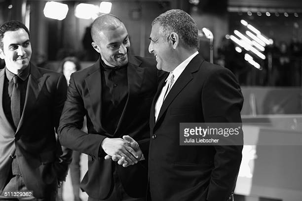 Actor Amir Jadidi and director Mani Haghighi attend the 'A Dragon Arrives' premiere during the 66th Berlinale International Film Festival on February...