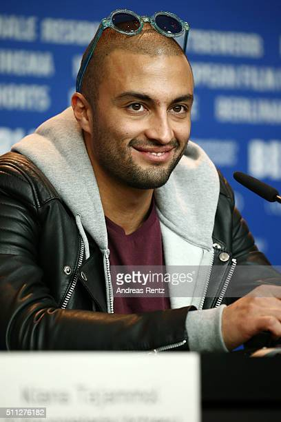 Actor Amir Jadidi attends the 'A Dragon Arrives' press conference during the 66th Berlinale International Film Festival Berlin at Grand Hyatt Hotel...