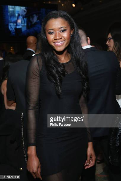 Actor Amira Lumbly attends MercedesBenz USA Official Awards Viewing Party at Four Seasons Beverly Hills CA on March 4 2018 in Los Angeles California