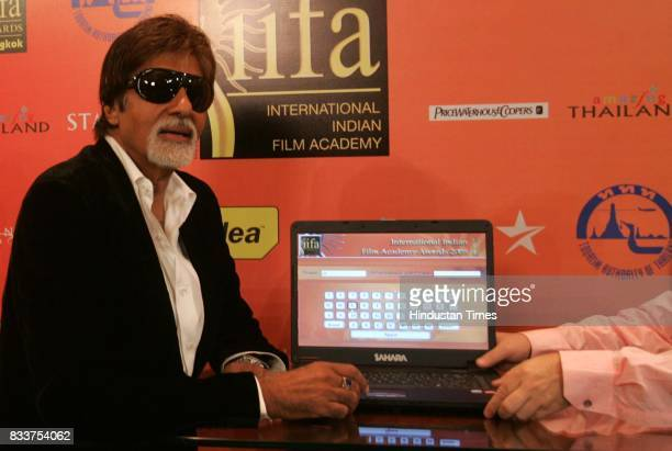 745cdb7f82c Actor Amitabh Bachchan inaugurates IIFA voting weekend by casting his vote  in Mumbai on Friday
