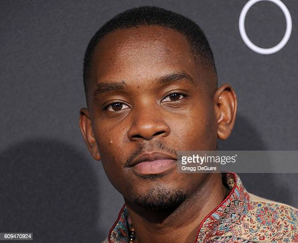 Actor Aml Ameen arrives at the premiere of Disney's 'Queen Of Katwe' at the El Capitan Theatre on September 20 2016 in Hollywood California