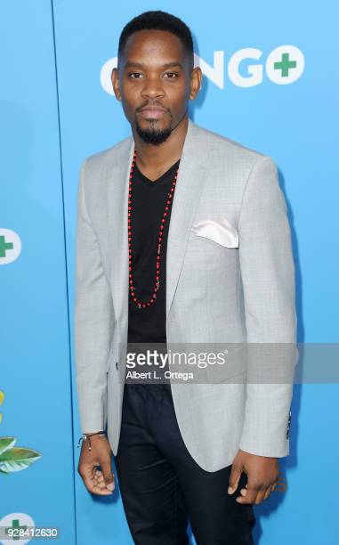 Actor Aml Ameen arrives for the Premiere Of Amazon Studios And STX Films' 'Gringo' held at Regal LA Live Stadium 14 on March 6 2018 in Los Angeles...