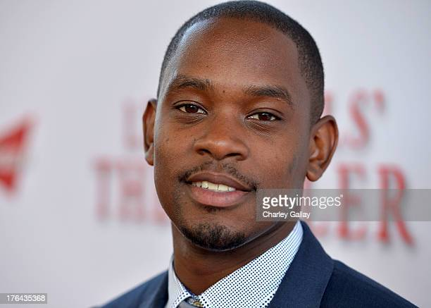 Actor Aml Ameen attends LEE DANIELS' THE BUTLER Los Angeles premiere hosted by TWC Budweiser and FIJI Water Purity Vodka and Stack Wines held at...