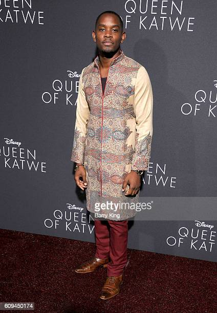 Actor Aml Ameen attends the premiere of Disney's 'Queen Of Katwe' at the El Capitan Theatre on September 20 2016 in Hollywood California