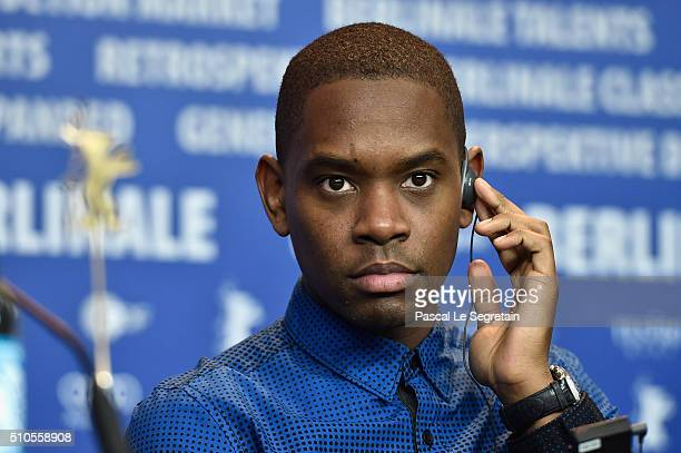 Actor Aml Ameen attends the 'Soy Nero' press conference during the 66th Berlinale International Film Festival Berlin at Grand Hyatt Hotel on February...