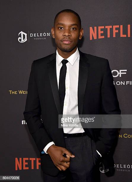 Actor Aml Ameen attends The Weinstein Company and Netflix Golden Globe Party presented with DeLeon Tequila Laura Mercier Lindt Chocolate Marie Claire...