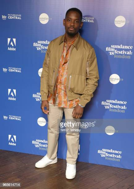Actor Aml Ameen attends the 'Yardie' red carpet arrivals during the Sundance Film Festival at Picturehouse Central on June 1 2018 in London England