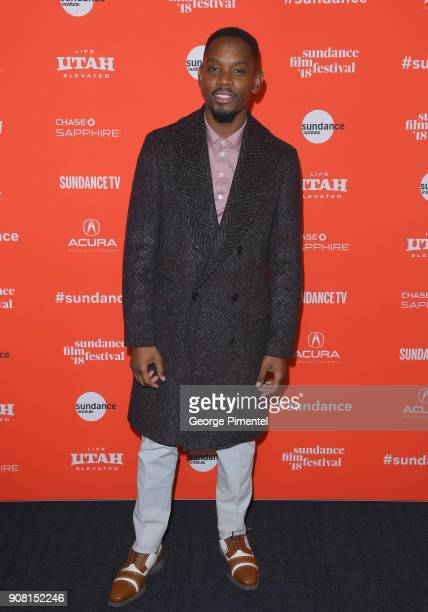 Actor Aml Ameen attends 'Yardie' Premiere during the 2018 Sundance Film Festival at The Ray on January 20 2018 in Park City Utah