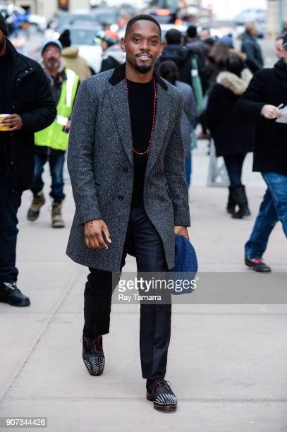 Actor Aml Ameen walks in Park City on January 19 2018 in Park City Utah