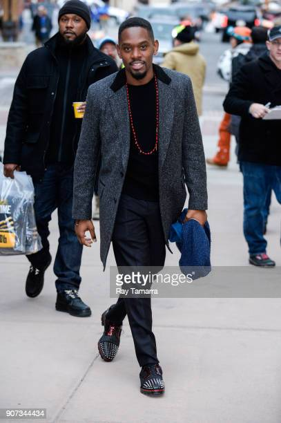 Actor Aml Ameen walks in Park City on January 19 2018 in Park City Utah
