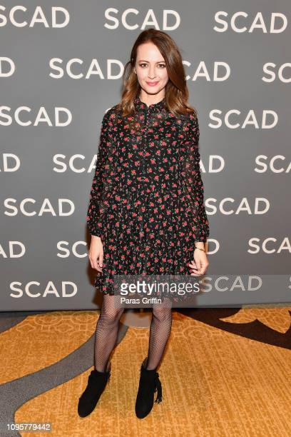 Actor Amy Acker attends the The Gifted press junket during SCAD aTVfest 2019 at Four Seasons Hotel on February 8 2019 in Atlanta Georgia
