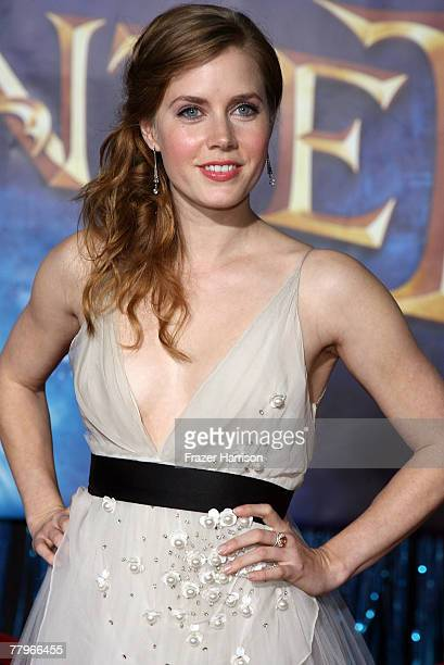 Actor Amy Adams arrives at the World Premiere of Disney's Enchanted held at the El Capitan theatre on November 172007 in Hollywood California