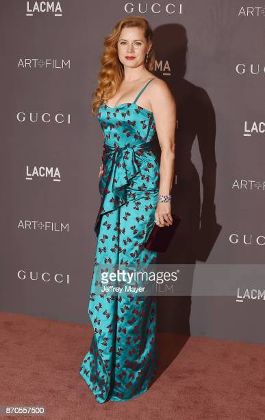 Actor Amy Adams attends the 2017 LACMA Art + Film Gala Honoring Mark Bradford and George Lucas presented by Gucci at LACMA on November 4, 2017 in Los...