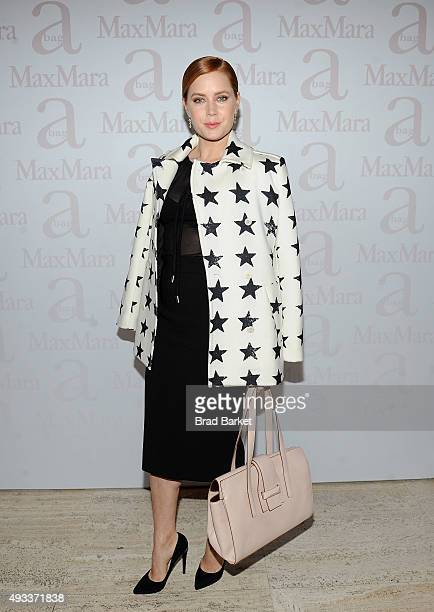 Actor Amy Adams attends the Max Mara Spring/Summer 2016 Accessories Campaign Celebration at Four Seasons Restaurant on October 19, 2015 in New York...