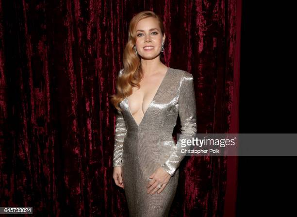 Actor Amy Adams poses backstage during the 89th Annual Academy Awards at Hollywood Highland Center on February 26 2017 in Hollywood California