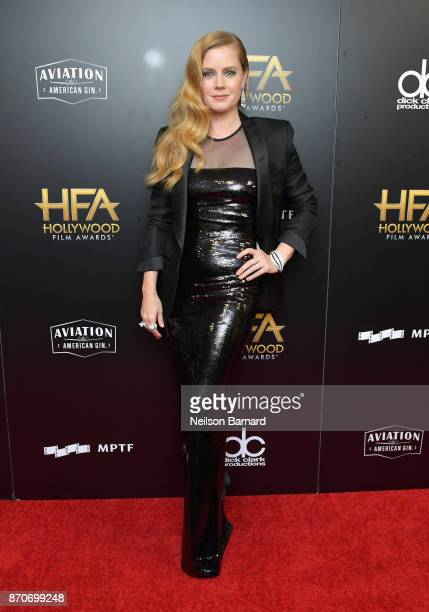 Actor Amy Adams poses in the press room during the 21st Annual Hollywood Film Awards at The Beverly Hilton Hotel on November 5 2017 in Beverly Hills...