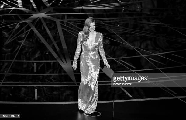 Actor Amy Adams walks onstage during the 89th Annual Academy Awards at Hollywood Highland Center on February 26 2017 in Hollywood California