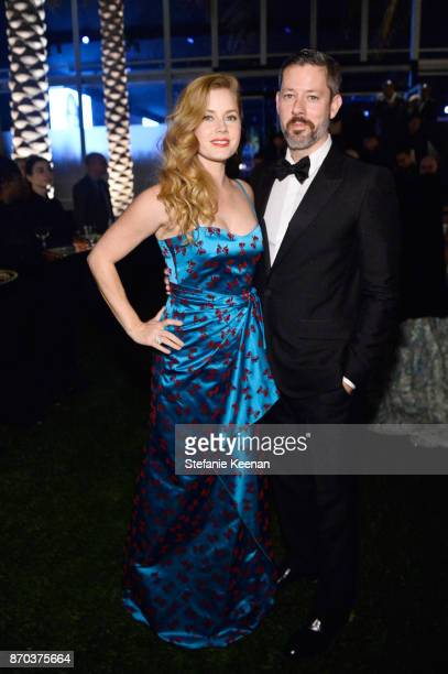 Actor Amy Adams wearing Gucci and actor Darren Le Gallo attend the 2017 LACMA Art Film Gala Honoring Mark Bradford and George Lucas presented by...