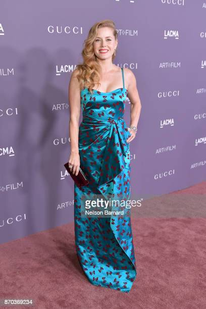 Actor Amy Adams wearing Gucci attends the 2017 LACMA Art Film Gala Honoring Mark Bradford and George Lucas presented by Gucci at LACMA on November 4...