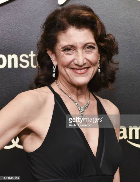 Actor Amy Aquino arrives at the Amazon Studios Golden Globes Celebration at The Beverly Hilton Hotel on January 7 2018 in Beverly Hills California