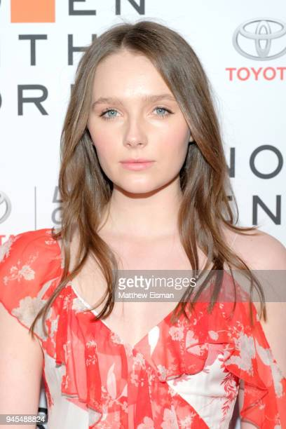 Actor Amy Forsyth attends the 2018 Women In The World Summit at Lincoln Center on April 12 2018 in New York City