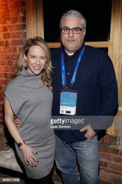 Actor Amy Hargreaves attends the Women in Motion Talk Presented by Kering at The Sundance Film Festival at The Claim Jumper on January 22 2018 in...