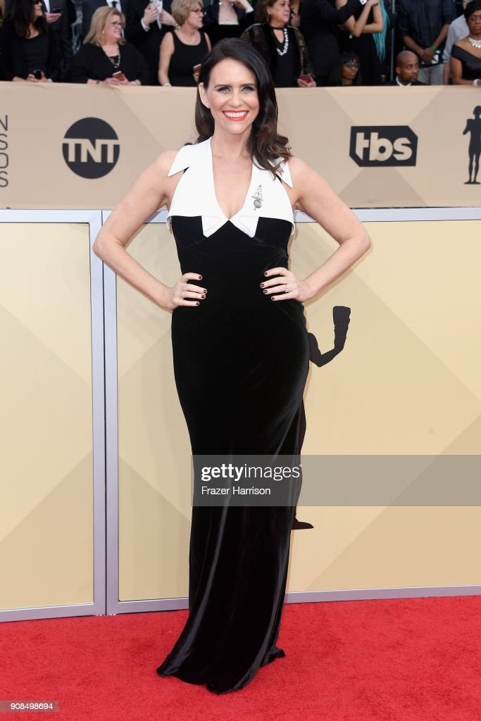 Actor Amy Landecker attends the 24th Annual Screen Actors Guild Awards at The Shrine Auditorium on January 21, 2018 in Los Angeles, California.