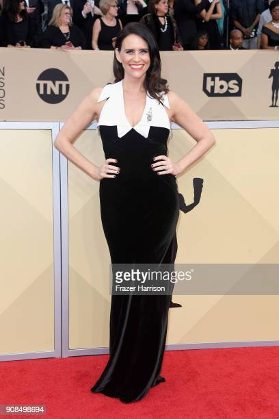 Actor Amy Landecker attends the 24th Annual Screen Actors Guild Awards at The Shrine Auditorium on January 21 2018 in Los Angeles California