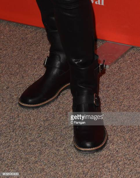 Actor Amy Landecker boot detail attends the 'A Kid Like Jake' Premiere during the 2018 Sundance Film Festival at Eccles Center Theatre on January 23...