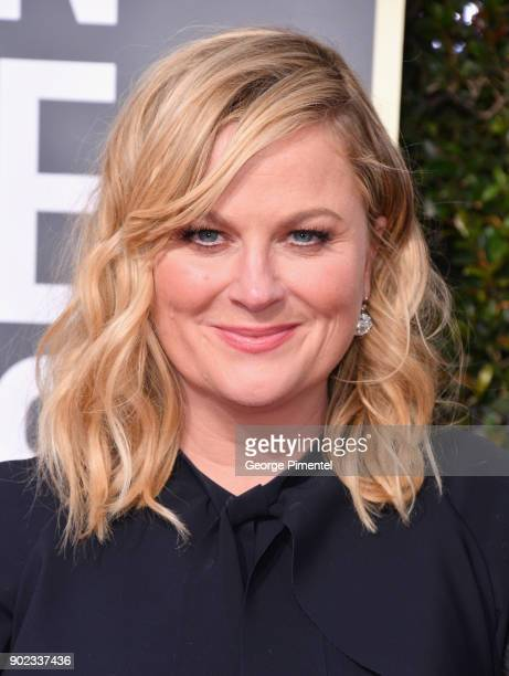 Actor Amy Poehler attends The 75th Annual Golden Globe Awards at The Beverly Hilton Hotel on January 7 2018 in Beverly Hills California