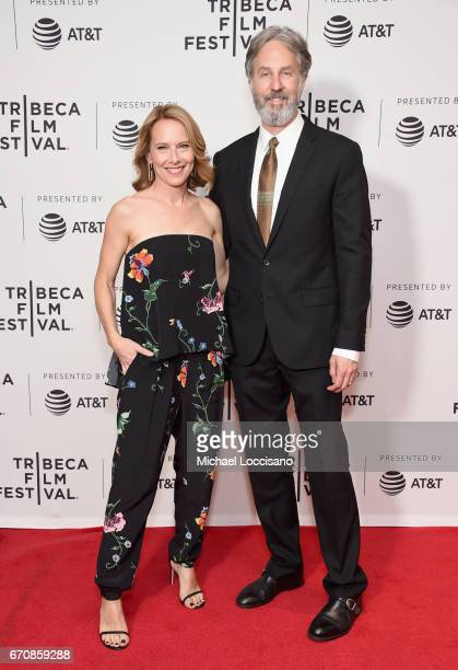 Actor Amy Ryan and Director Angus MacLachlan attends the 'Abundant Acreage Available' Premiere during 2017 Tribeca Film Festival at Cinepolis Chelsea...