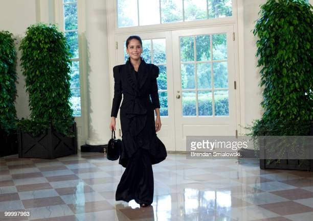 Actor Ana Claudia Talancon arrives at the White House for a state dinner May 19 2010 in Washington DC President Barack Obama and first lady Michelle...