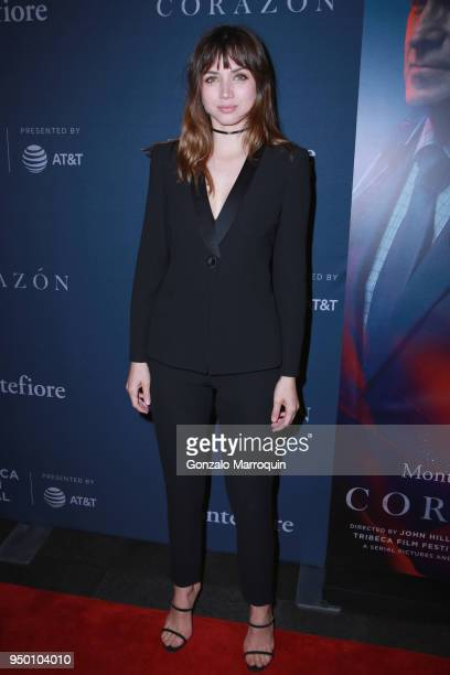 Actor Ana de Armas attends CORAZON presented by Montefiore on April 22 2018 in New York City