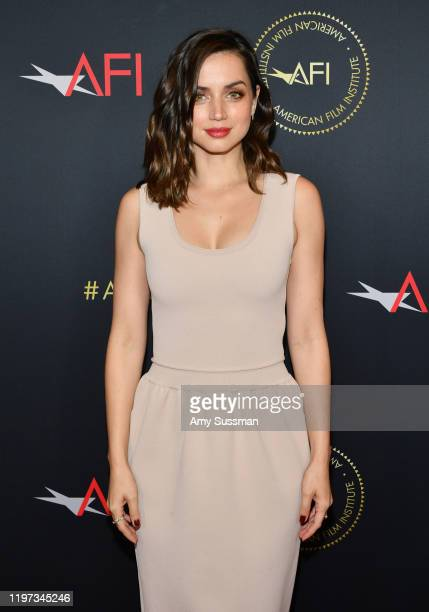 Actor Ana de Armas attends the 20th Annual AFI Awards at Four Seasons Hotel Los Angeles at Beverly Hills on January 03 2020 in Los Angeles California