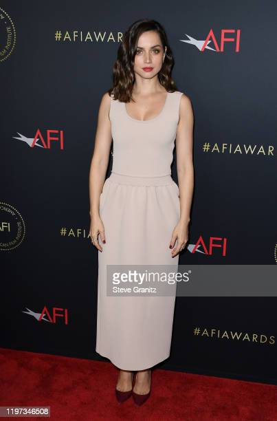 Actor Ana de Armas attends the 20th Annual AFI Awards at Four Seasons Hotel Los Angeles at Beverly Hills on January 03, 2020 in Los Angeles,...