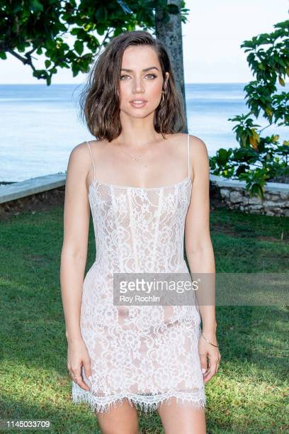 Actor Ana de Armas attends the Bond 25 Film Launch at Ian Fleming's Home GoldenEye on April 25 2019 in Montego Bay Jamaica