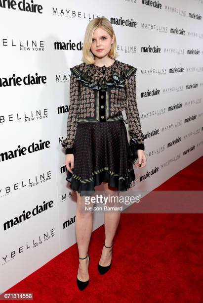 Actor Ana MulvoyTen attends Marie Claire's 'Fresh Faces' celebration with an event sponsored by Maybelline at Doheny Room on April 21 2017 in West...