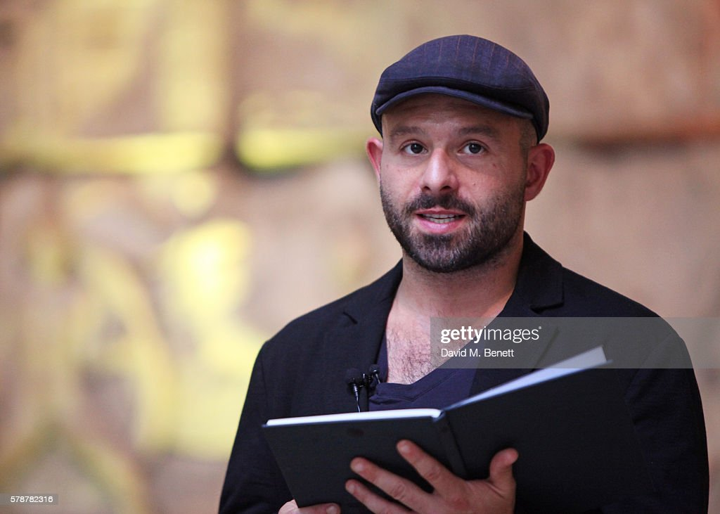 "Anatol Yusef Reads ""Poets, Warriors"" By Gabriele Tinti At The British Museum : News Photo"