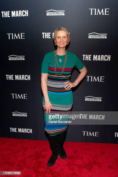 Actor and activist Cynthia Nixon attends the TIME Launch Event for The March VR Exhibit at the DuSable Museum on February 26 2020 in Chicago Illinois