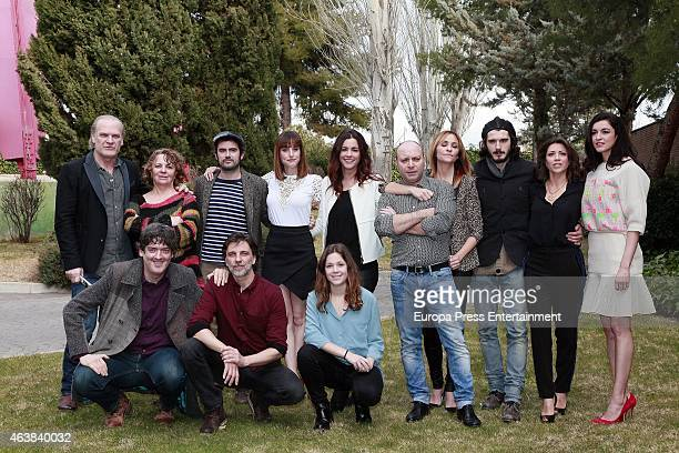 Actor and actress attend the presentation of 'Bajo Sospecha' on February 16 2015 in Madrid Spain