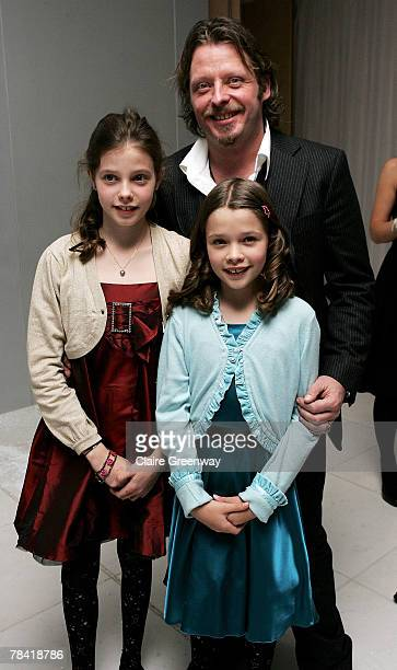 Actor and adventurer Charlie Boorman and his daughters Doone and Kinvara arrive at the drinks reception prior to the VIP performance of 'Night of The...