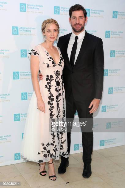 Actor and AIS Gala host Emily Blunt and actor John Krasinski attend the American Institute for Stuttering 12th Annual Freeing Voices Changing Lives...