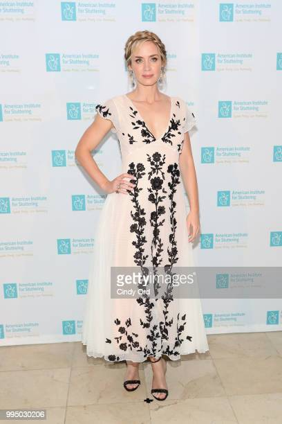 Actor and AIS Gala host Emily Blunt attends the American Institute for Stuttering 12th Annual Freeing Voices Changing Lives Benefit Gala at...