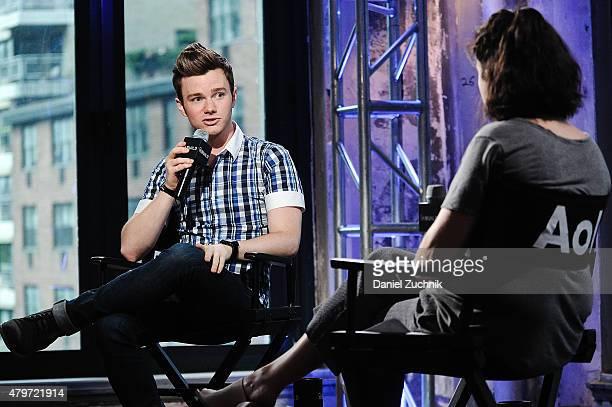 """Actor and author Chris Colfer speaks on stage during """"The Land of Stories: Beyond the Kingdoms"""" discusson presented by AOL Build at AOL Studios In..."""