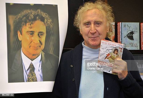 Actor and author Gene Wilder autographs copies of his new book 'The Woman Who Wouldn't' at Barnes & Noble Bookstore at The Grove on March 17, 2008 in...