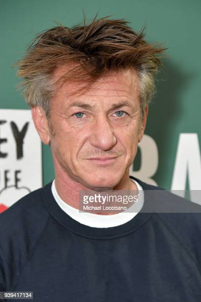 Actor and author Sean Penn discusses his new book Bob Honey Who Just Do Stuff A Novel at Barnes Noble Union Square on March 28 2018 in New York City