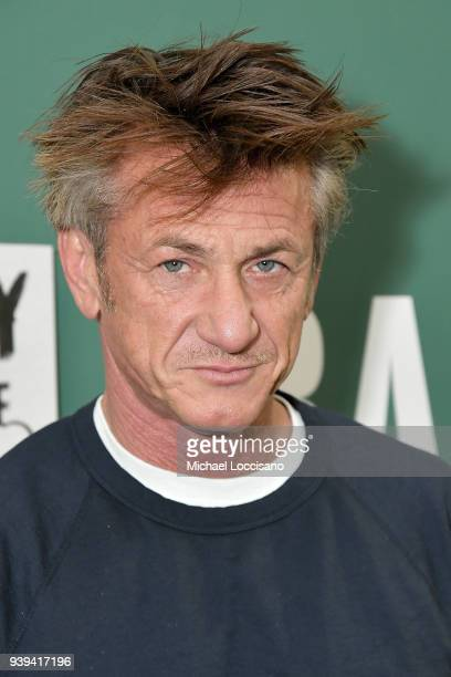 """Actor and author Sean Penn discusses his new book """"Bob Honey Who Just Do Stuff: A Novel"""" at Barnes & Noble Union Square on March 28, 2018 in New York..."""