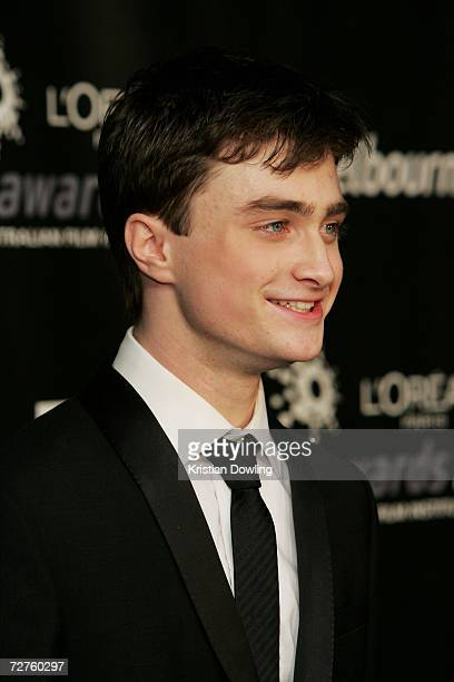 Actor and award presenter Daniel Radcliffe poses backstage in the Awards Room at the L'Oreal Paris 2006 AFI Awards at the Melbourne Exhibition Centre...